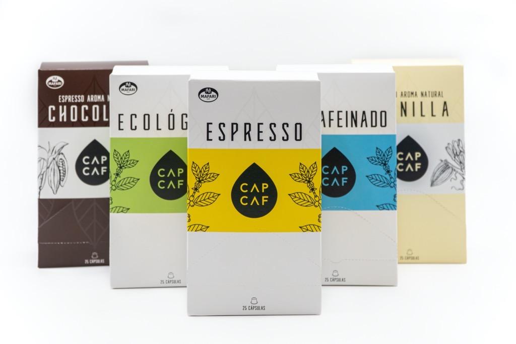 Cápsulas de cafá CAPCAF de Mafari Café
